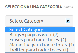 Organizar categorías blog